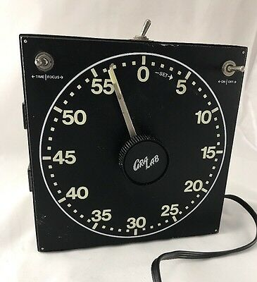 Gra Lab Model 300 Photography Darkroom Electric Timer Working Glow in Dark USA
