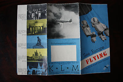 See Europe Flying By Klm Royal Dutch Air Lines Dc-2 Dc-3 Knilm Very Rare !!