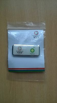 Glasgow 2014 Commonwealth Games Bp Badge.white With Silver Edge