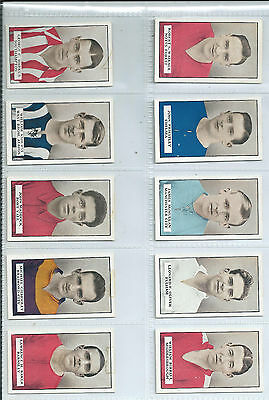 Full set of 50 Gallaher Famous Footballers (brown back) issued in 1926