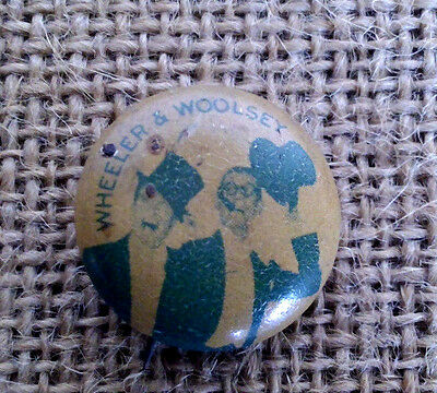Vintage 1930's WHEELER AND WOOLSEY Pinback Button Rare