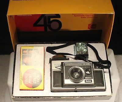 Vintage Kodak Instamatic X-45 Color Outfit Camera Original Box.