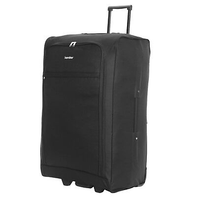 "Extra Lightweight Large 28"" Foldable Wheeled Trolley Luggage Suitcase Case Bag"