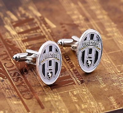 Football cuff links Juventus Silver Colour Cufflinks Italy Foot Ball Boot Sports