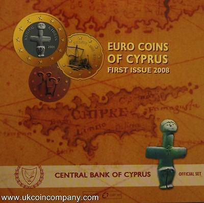 2008 Cyprus Euro Uncirculated Coin Set First Issue