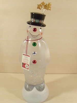 "NEW VERY RARE 20"" Large Hallmark Merry Magic Snowman Lighted Snow Globe 2009"
