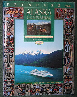 Booklet PRINCESS CRUISES ALASKA 1999 Brochure Timetable Tariffs Ship Deck Plans