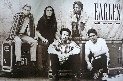 "THE EAGLES BAND AMERICAN POSTER SHEET 24""x36"" MUSIC ROCK CONCERT NEW SIDE J-0951"