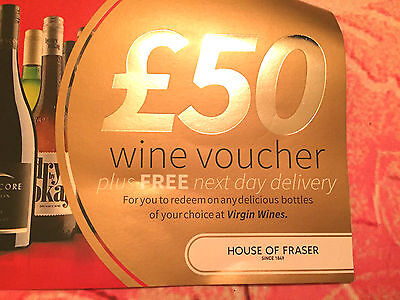 £50 virgin wines gift discount winebank voucher coupon NDD  50% discount
