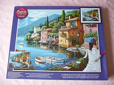 DIMENSIONS PAINT WORKS LARGE PAINT BY NUMBERS KIT – LAKESIDE VILLAGE (41 x 51cm)