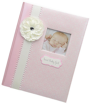 CR Gibson Baby Girl's First Memory Book (Bella) -- Newborn Baby Gift Set / Keeps