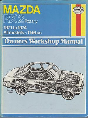 Mazda Rx-2 Rx2 Rotary Saloon & Coupe 1971 - 1974 Owners Workshop Manual * Vgc *
