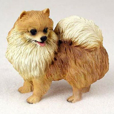 POMERANIAN (RED) DOG Figurine Statue Hand Painted Resin