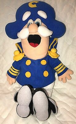 """Vintage 1992 Cap'n Crunch Doll From Quaker Oats Cereal 18"""" Plush Captain Crunch"""