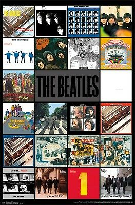 The Beatles Album Covers Collage Poster (57X87Cm) Picture Print New