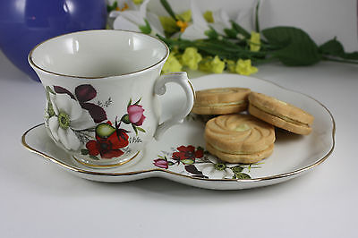 James Kent Old Foley Staffordshire Teacup and Matching Snack Plate