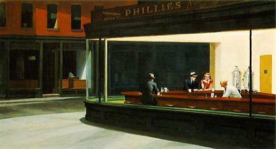EDWARD HOPPER POSTER (91x61cm) NIGHTHAWKS PICTURE PRINT NEW ART
