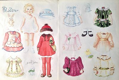 Robin, A Little Girl Paper Doll, 1991 Doll Reader by Judith Yates