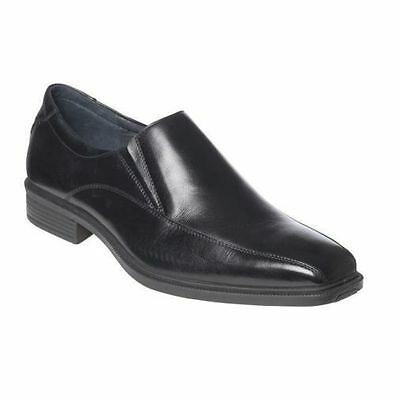 Mens Hush Puppies Mentor Extra Wide Men Black Leather Work Slip On New Shoes