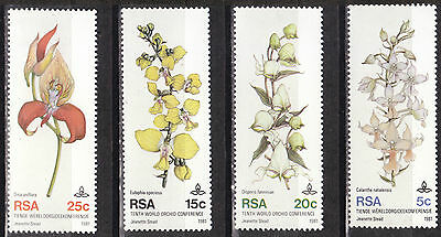 115.south West Africa ( Swa) 1981 Set/4 Stamp Flowers, Orchids.mnh