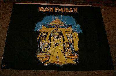 """IRON MAIDEN Powerslave FLAG CLOTH POSTER WALL TAPESTRY BANNER NWOBHM 39"""" x 55"""""""