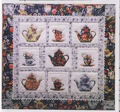 High Time for Tea - foundation paper pieced wall quilt PATTERN