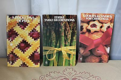 Set of 3 Irena Chalmers Cookbook Booklets Pies Edible Decorations Cookies 1981