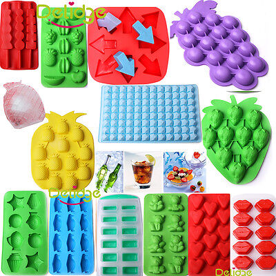 Silicone Rubber Ice Cube Tray Mold For Bar Chocolate Soap Mould Jello Candy UK