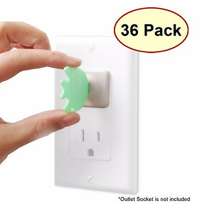36 Electric Safety Outlet Covers Protector + 4 Keys Child Baby Proofing Patented