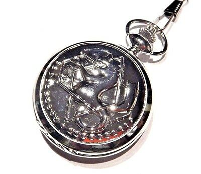 FULLMETAL ALCHEMIST Ed's Pocket Watch on fob chain replica anime cosplay prop G2