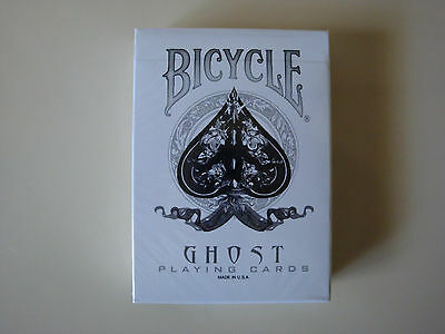 Bicycle White Ghost Deck Playing Cards By Ellusionist Uspcc - Magic Card Tricks