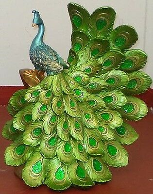 Peacock Figurine Styles- Showing Beautiful Feather's Statue - Stunning! Unique!