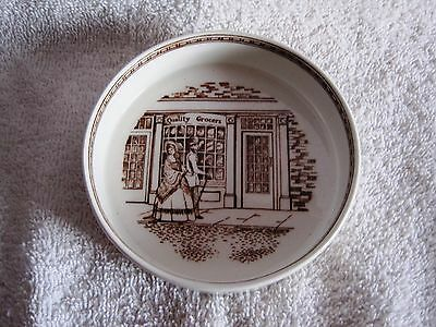 Like-New - Adams - Quality Grocers - Round Dish - Ashtray - Mint - Great Gift