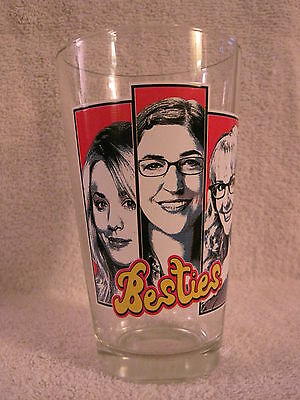 Rare- The Big Bang Theory - Besties - Penny, Bernadette & Amy - Drinking Glass!!
