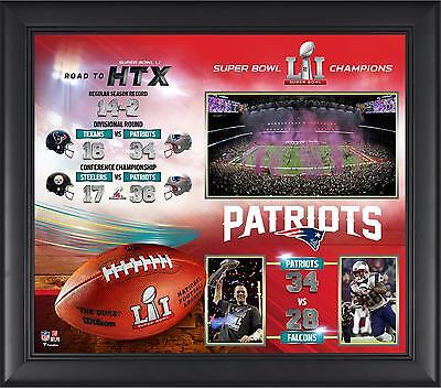 New England Patriots Framed 15x17 Super Bowl LI Champions Collage