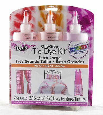 Pop Art One Step Tie Dye Kit Extra Large Projects Tulip NEW magenta tangerine