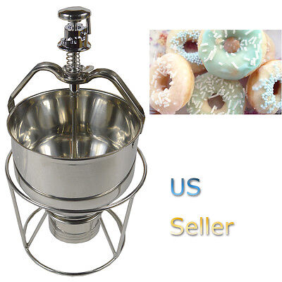 New Manual Stainless Steel Pancake Churros Waffle Donut Dispenser