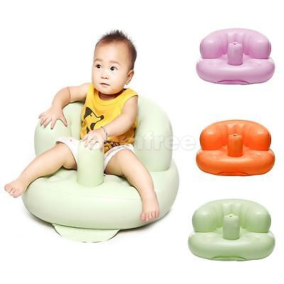 Baby Infant Inflatable Sofa Seat Learn Training Seat Bath Dinning Chair Safe