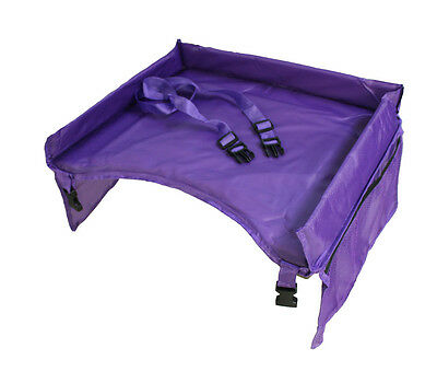 Waterproof Children On the Go Travel Play&Snack Tray for Car, Purple Stroller