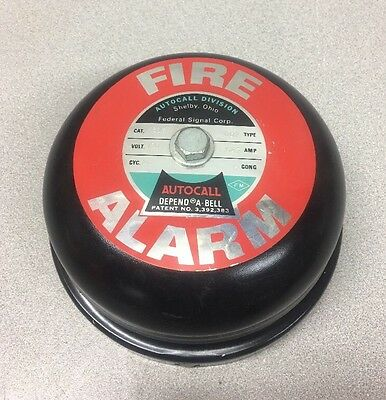 NOS Vintage Federal Signal AUTOCALL Depend-A-Bell Fire Alarm / #4606