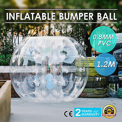1.2M Inflatable Bubble Bumper Zorb Ball TPU Football W/ Repair Kit Outdoor Ball
