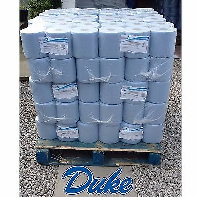 13 rolls Blue Centre feed Rolls Embossed 2ply Wiper Paper Towel Kitchen Roll