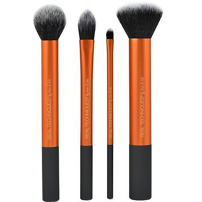 Real Techniques Core Collection 4 PCS Makeup Brushes Contour Foundation Set