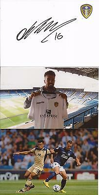 LEEDS * NICKY AJOSE SIGNED 6x4 CRESTED WHITECARD+2 UNSIGNED PHOTOS+COA