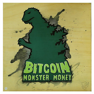 Painting #9 - Monster Money
