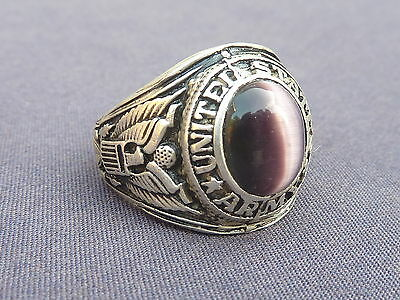 Us Army Ring  Purple Coloured  Inlay 12 / Y