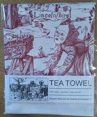 Grayson Perry tea towel - the Charms of Lincolnshire