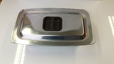Genuine Philips Hostess Trolley Glass Dish and Stainless Steel Lid