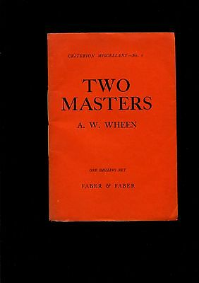 WW1 Two Masters by A.W.Wheen 1916
