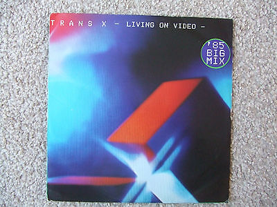 Trans X 12 Inch Single Vinyl - Living On Video (Boiling Point)